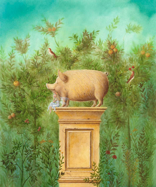 """""""Pig and the Fairy"""" by Yingjie Li"""