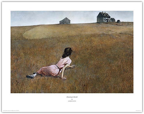christinas world Andrew Wyeth print woman crawling up hill Maine christina olson