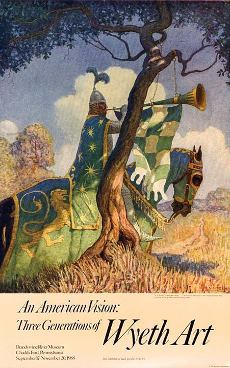 N_C__Wyeth_print_an_american_vision_three_generations_of_wyeth_art_it_hung_upon_a_thorn_knight_horse_poster