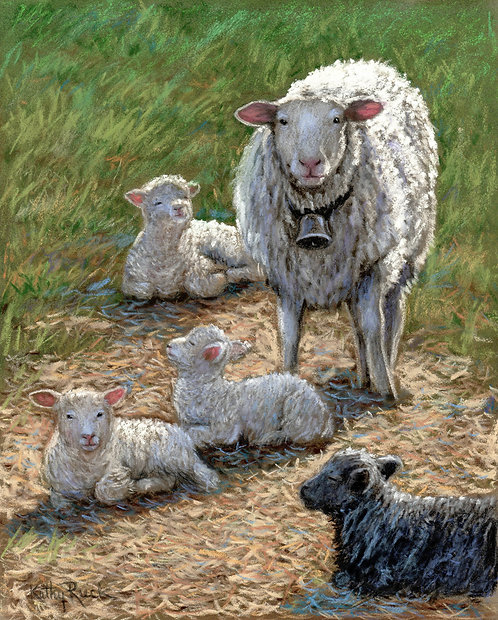 """""""Sheep Babysitter"""" by Kathy Ruck"""