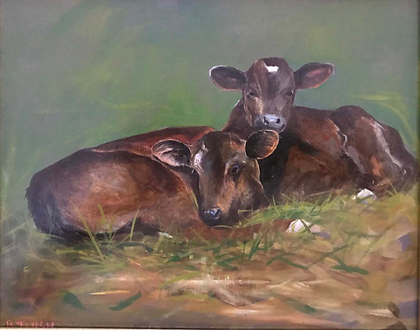 """Ramsey's Farm Calves"" by Barbara Tlush"