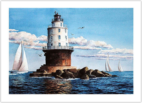 Beacon of Refuge Richard Bollinger print Delaware Harbor West End Lighthouse