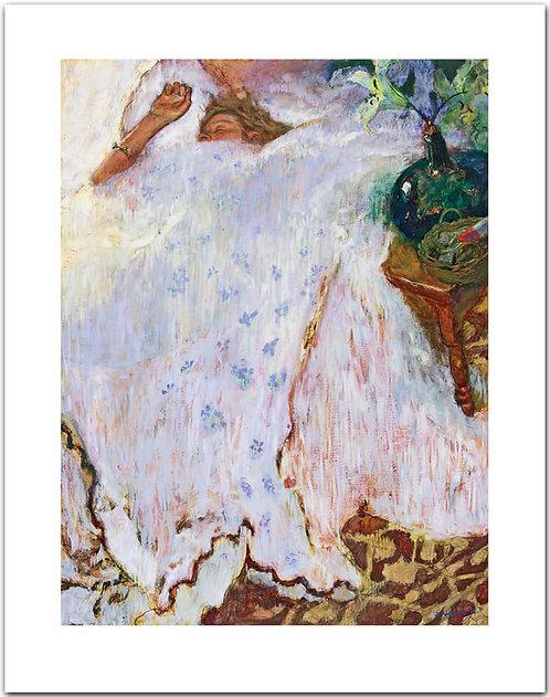 Overslept - Jamie Wyeth print woman Phyllis sleeping