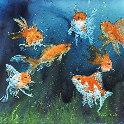 """""""Goldfish A Go Go"""" by Kathy Ruck"""
