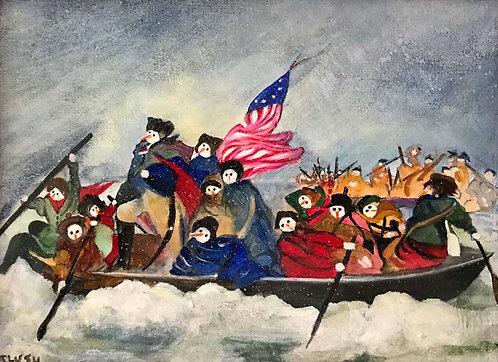 """Washington crossing the Delaware"" by Barbara Tlush"