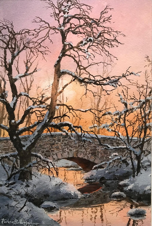 """Winter Crossing""  by Richard Bollinger"