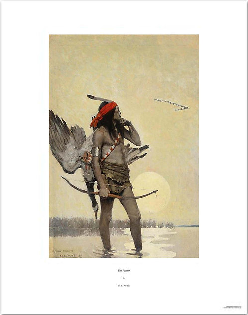 nc wyeth print The Hunter indian canada goose