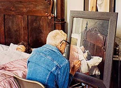 Andrew Wyeth at work