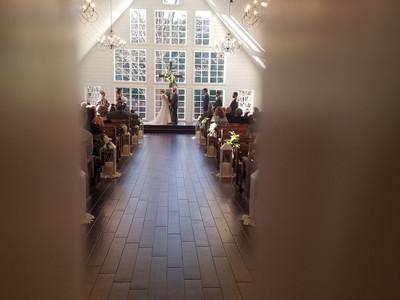 Sneak peek of wedding ceremony