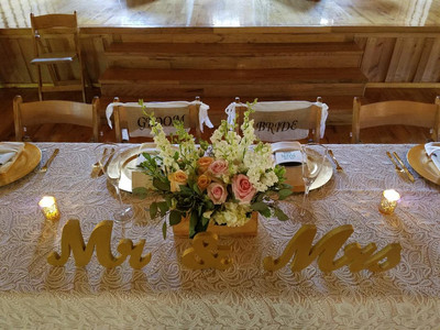 Bridal Party Table (Couple's Seats)