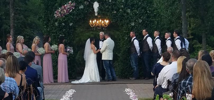 Ceremony decor at The Carriage House