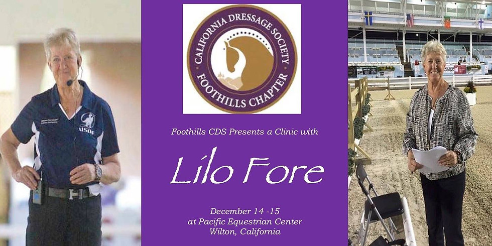 Foothills CDS Presents a Clinic with Lilo Fore