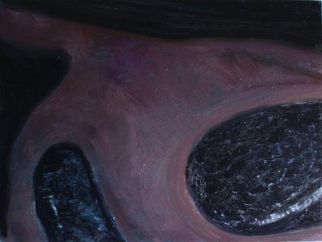 Oil on aluminium