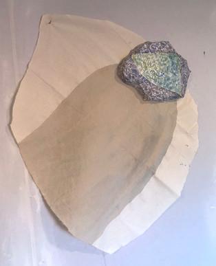 plaster, copper, cotton, oil paint
