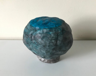 Clay, acrylic
