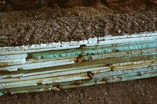 Found building materials, ceramic, earth