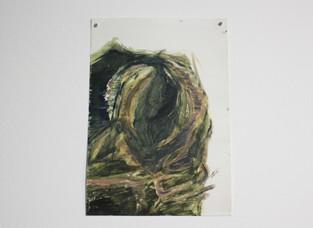 Mass, Oil on paper