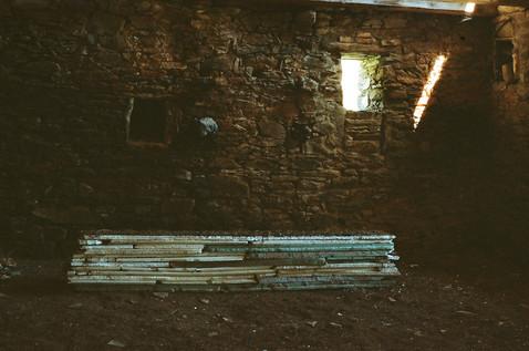 Found building material, ceramic, earth