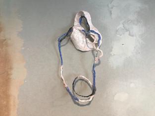 Plaster, wire, copper, watercolour