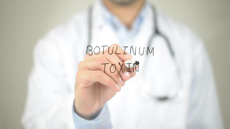 Botulinum Toxic , Doctor writing on tran