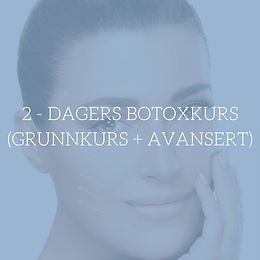 2 dagers Botoxkurs (Grunnkurs + Avansert)