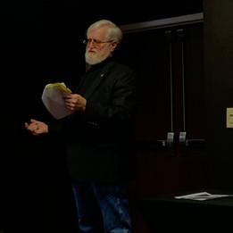 Chaplain Hoibraten doing Missing Man Presentation