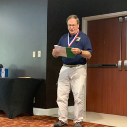 Randy Bushey presenting Brockaway Award