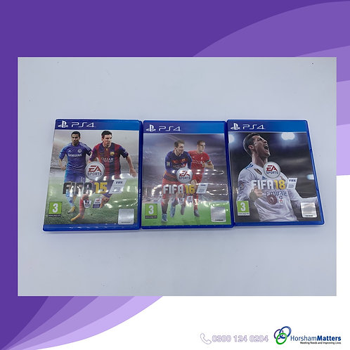 Set of 3 FIFA football games PS4