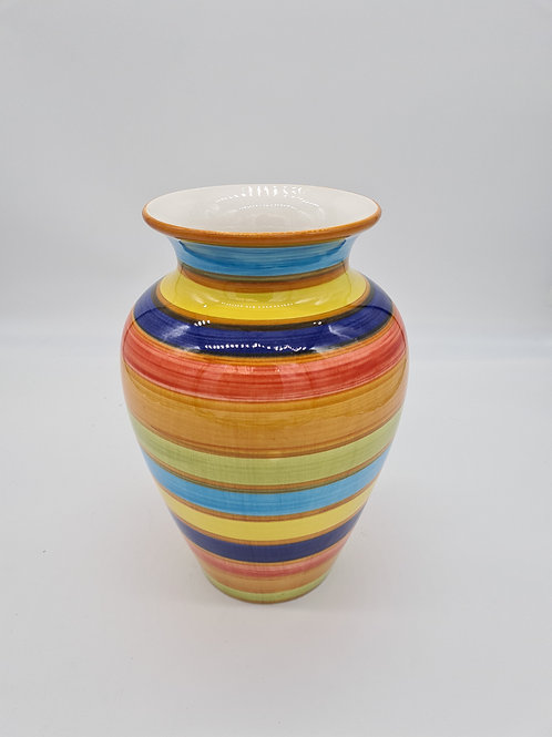 Colourful striped vase