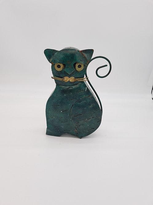 Cat fretwork metal tealight