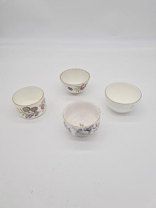 Mixed vintage bone China sugar bowls