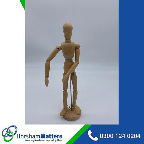 Wooden artist moveable manikin 12 inch