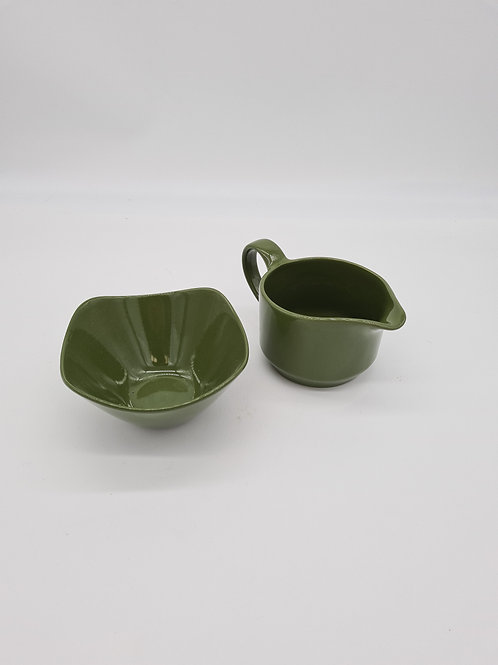 Midwinter Staffordshire sugar bowl and milk jug