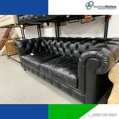 Black Large leather sofa Great condition