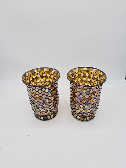 Glass mosaic lantern