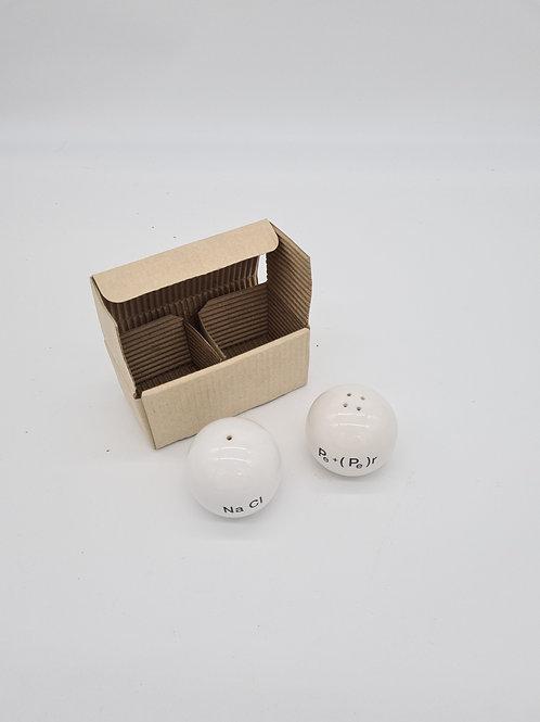 Boxed salt and pepper pots