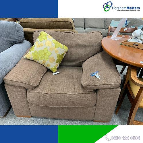 Single seater brown sofa chair