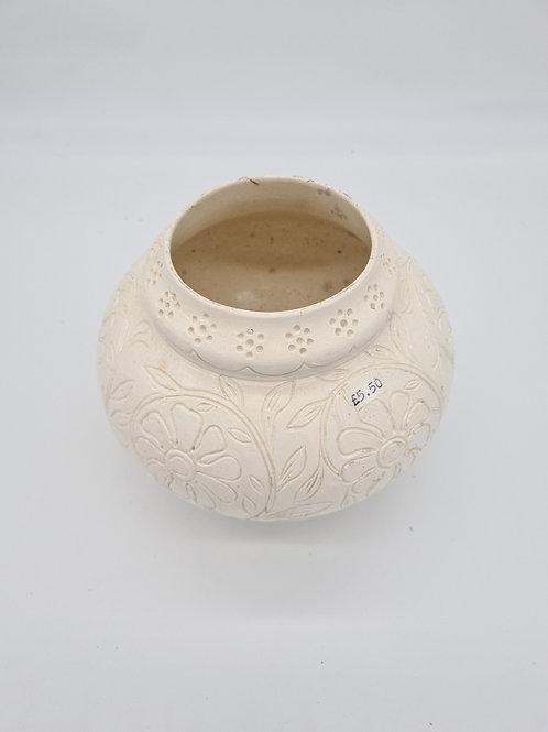 Cream decorative vase