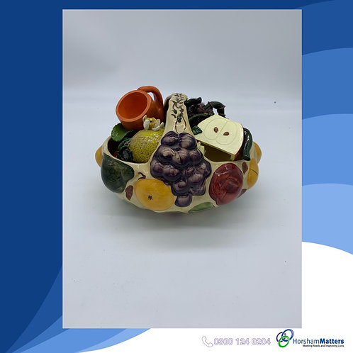Fruit Basket with individual fruit pieces