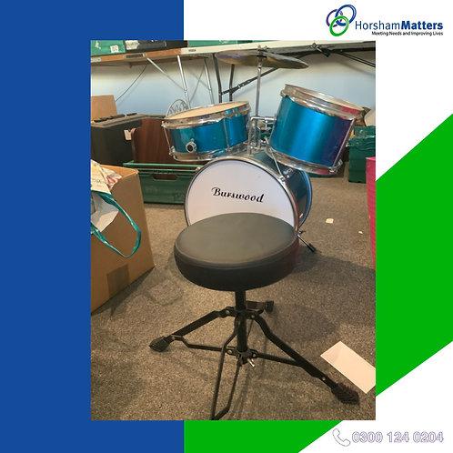 Child's drum kit (missing drumsticks)