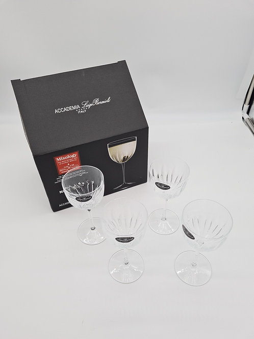 4 x new boxed Italian crystal glasses(2 missing)