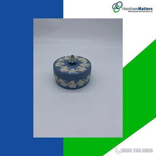Ceramic trinket pot blue boxed
