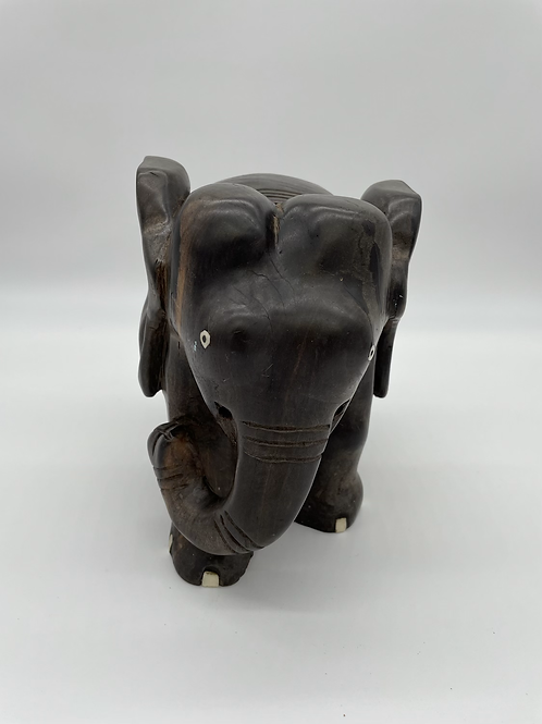 Wooden Hand-Carved Elephant