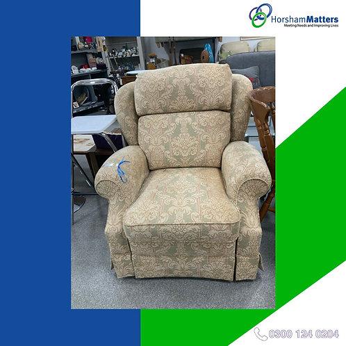Single cream arm chair