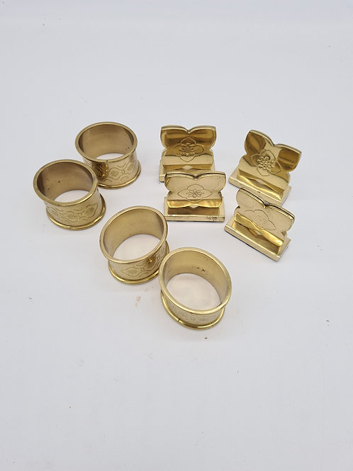 4 x napkin rings and place name holders