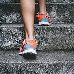 feet walking up stairs