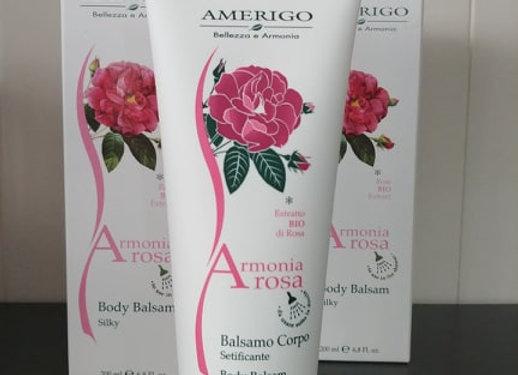 Balsamo corpo setificante Armonia Rosa
