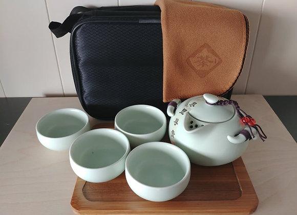 Set da tè da viaggio: 8 parti