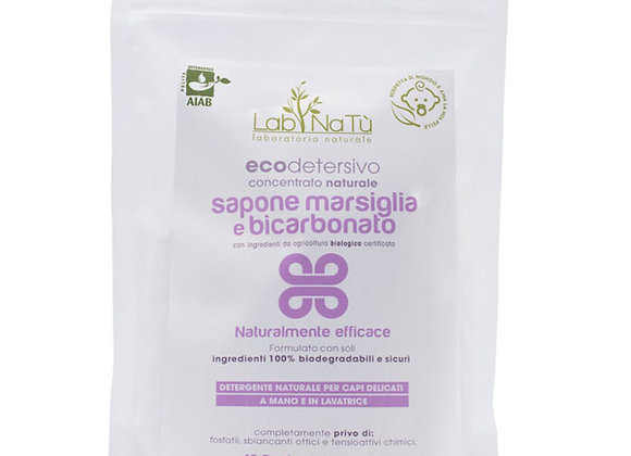 Eco detersivo Sapone Marsiglia e Bicarbonato, bucato delicato