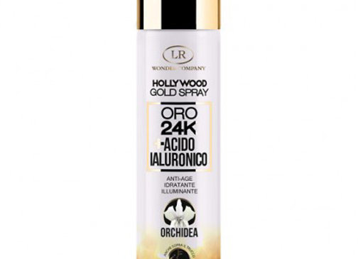 Gold spray viso oro 24K e acido ialuronico
